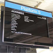 Smartguide Passenger information display panel at Flinders Street Station